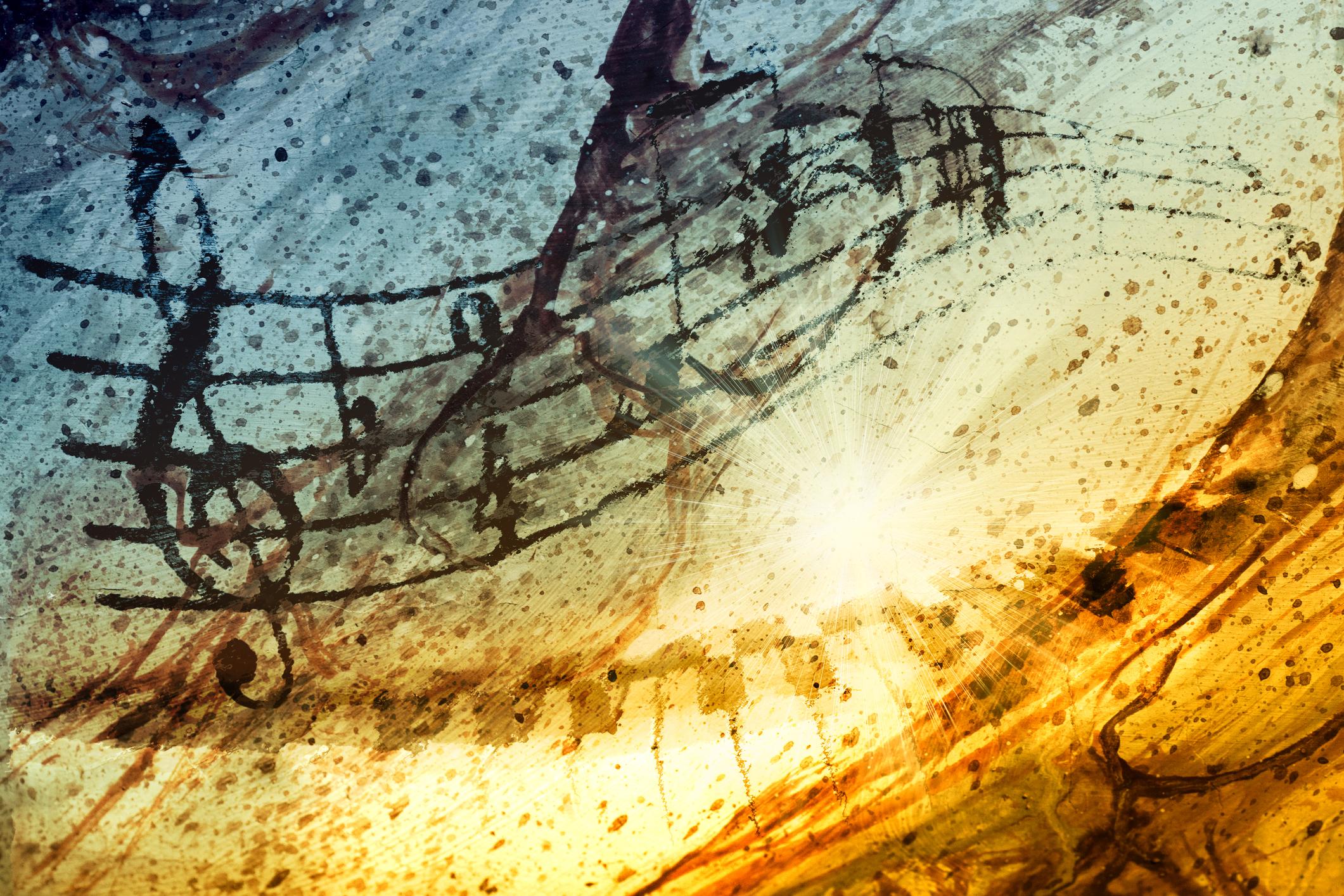 La musique : partitions, instruments, mélodies et voix